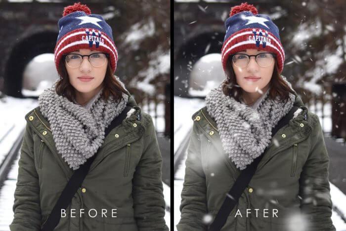Pinceles de Nieve en Adobe Photoshop