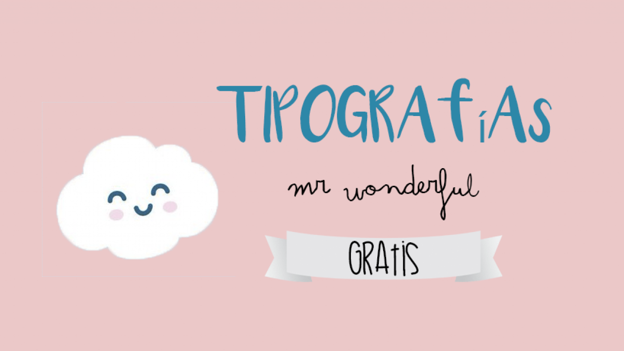 Descarga Tipografía Mr Wonderful 2018 Gratis