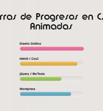 barras de progreso en CSS3