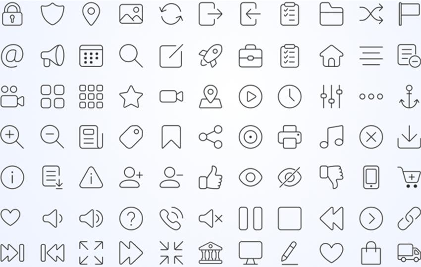 iconos de líneas