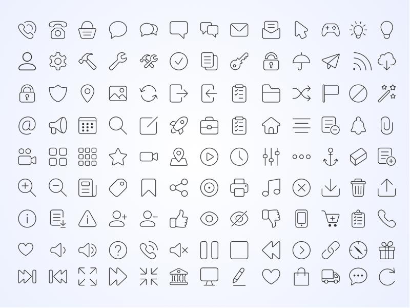 iconos de lineas