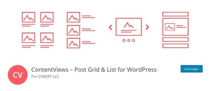 Content Views plugin para la navegación por clusters en WordPress