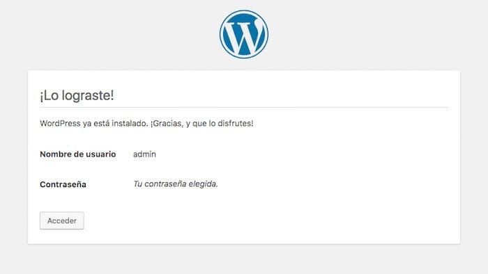 Crear una página web en WordPress