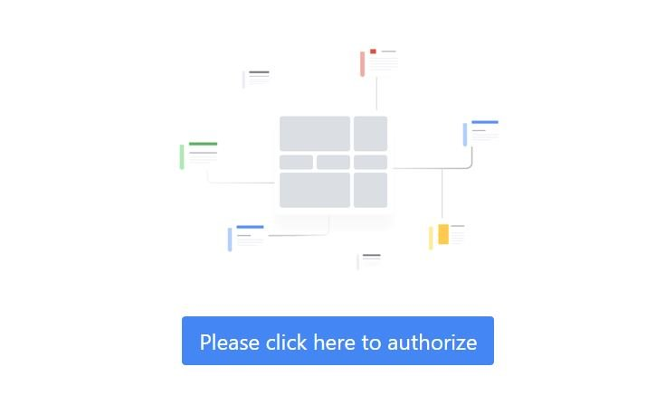 Realtime Content Insights de Google Autorización
