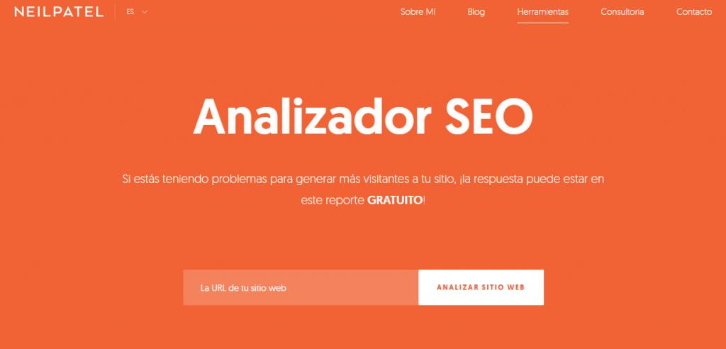 Análisis SEO gratis - Analizador SEO Neilpatel