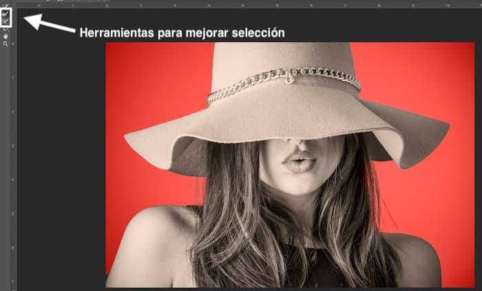 Seleccionar y Aplicar máscara en Photoshop para Invertir la Selección