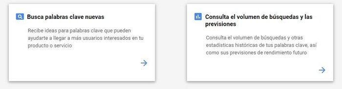 Consulta volumen de búsqueda en Google Keyword Tool.