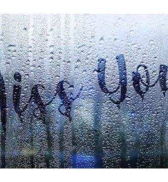 texto en ventana con lluvia Photoshop