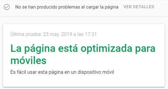 Herramienta de optimización para dispositivos móviles de Google