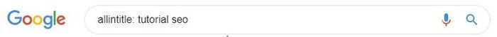 Comando allintitle de Google para buscar frases en los títulos