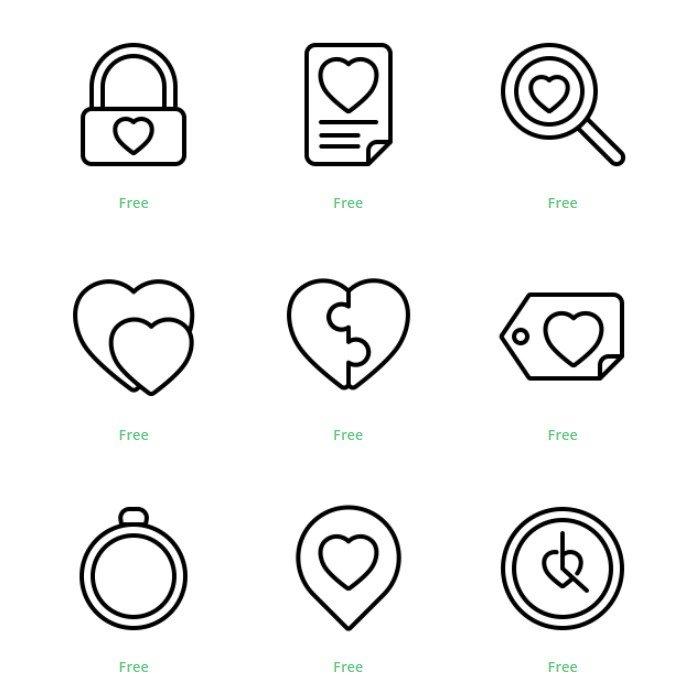 Iconos enamorados y amor Instagram