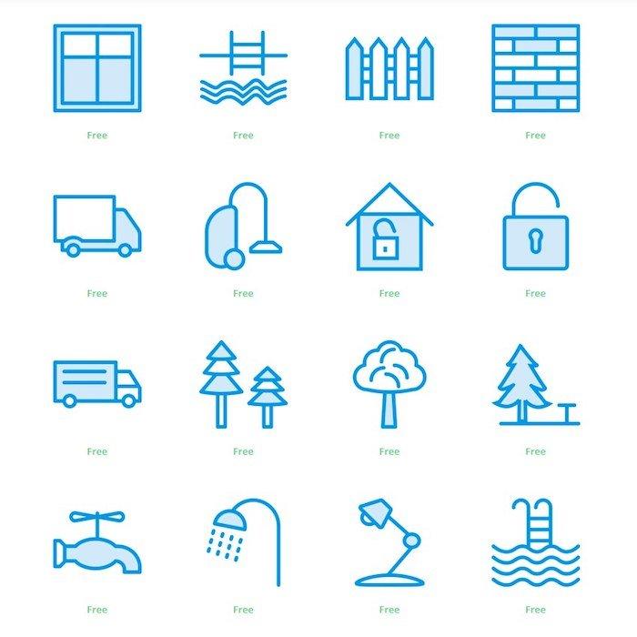 Iconos para historias destacadas de Instagram - Azules