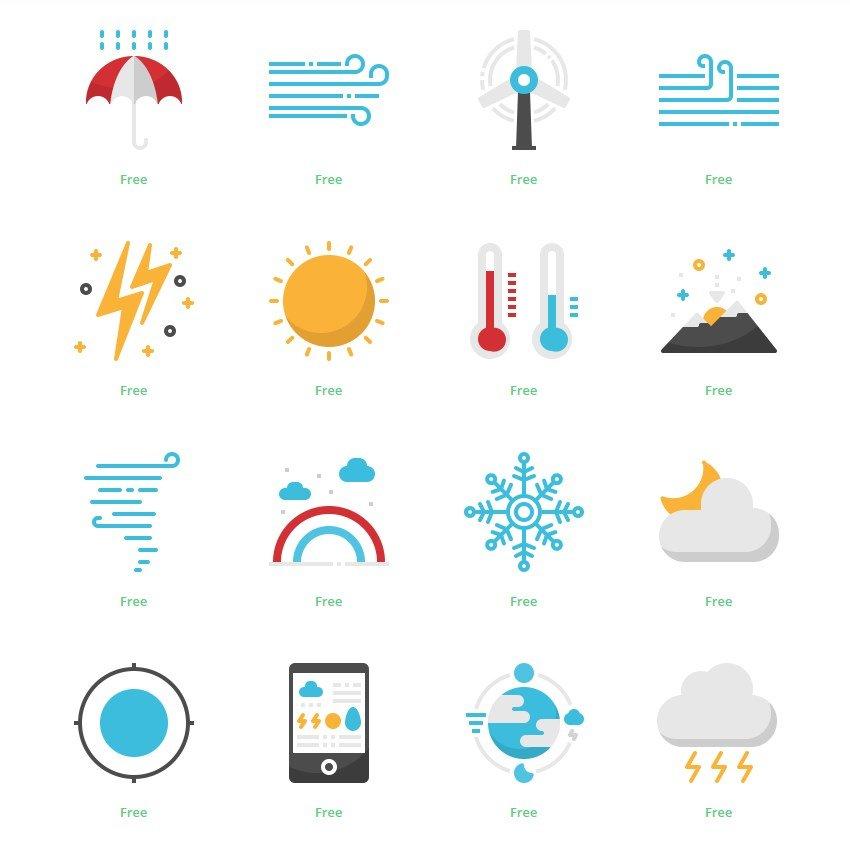 Iconos colores de tiempo instagram