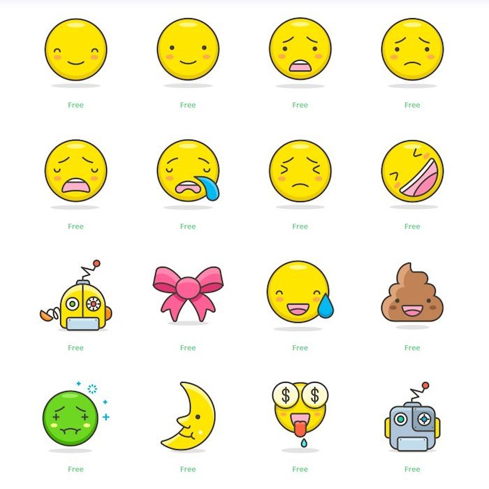 Iconos emojis instagram