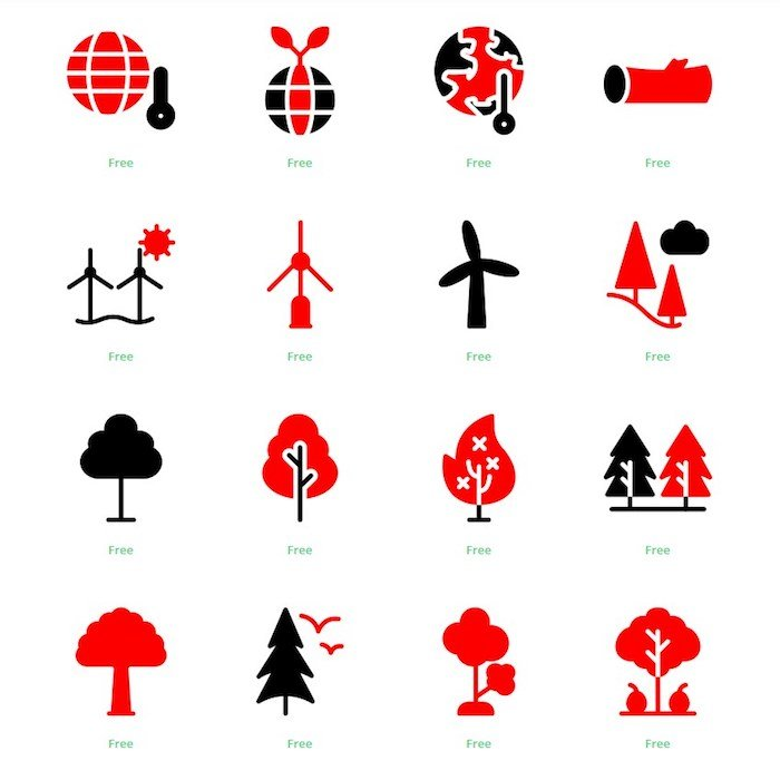 Iconos ecología Instagram
