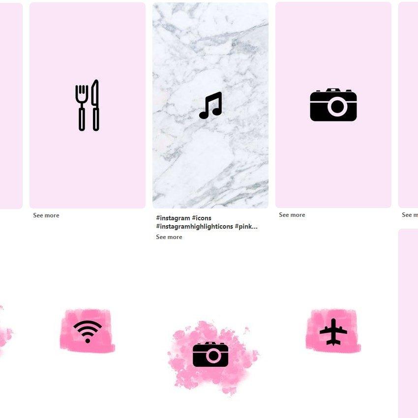 Plantillas de portada e iconos para perfil de Instagram