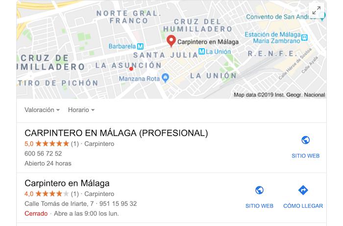Búsquedas Google My Business