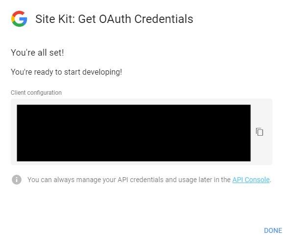 Introducir datos clientes Google Site Kit
