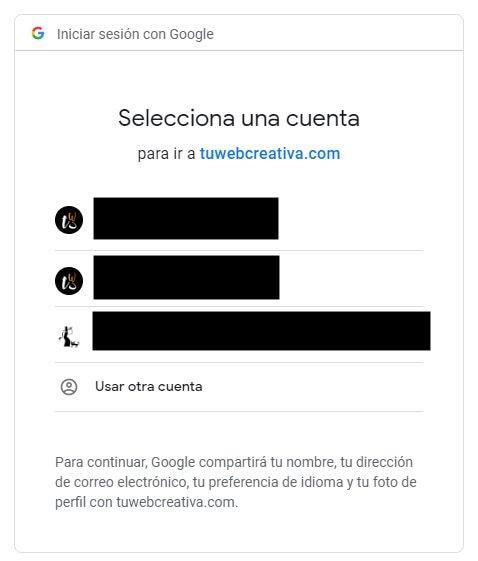Permitir Acceso de Cuentas Google