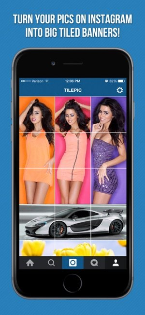 Tile Pic para iOS - Crear mosaicos de fotos para Instagram