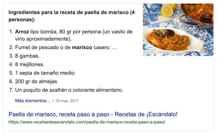 Fragmento Destacado de Google