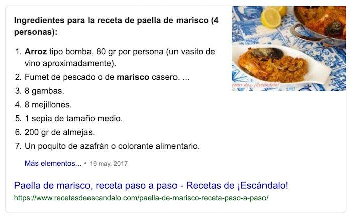 Fragmento Destacado de Google