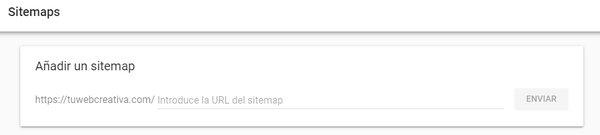 Agregar sitemaps en Google Search Console.