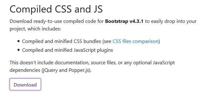 Incluir Bootstrap en WordPress - Descargas
