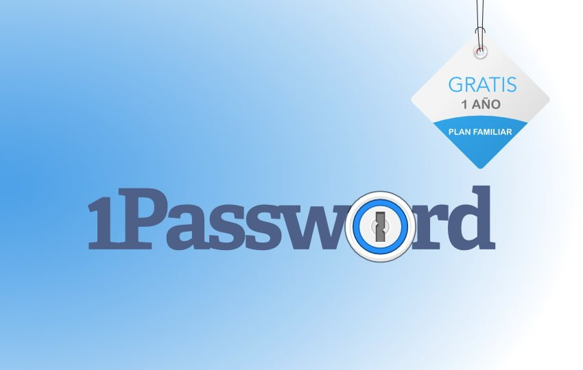 1Password Gratis 1 año