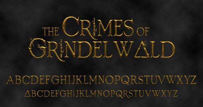 Crimenes de Grindelwald tipografía