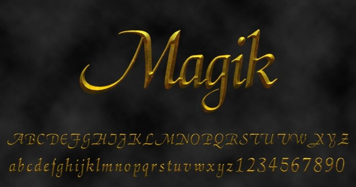 Magik Letra de Harry Potter
