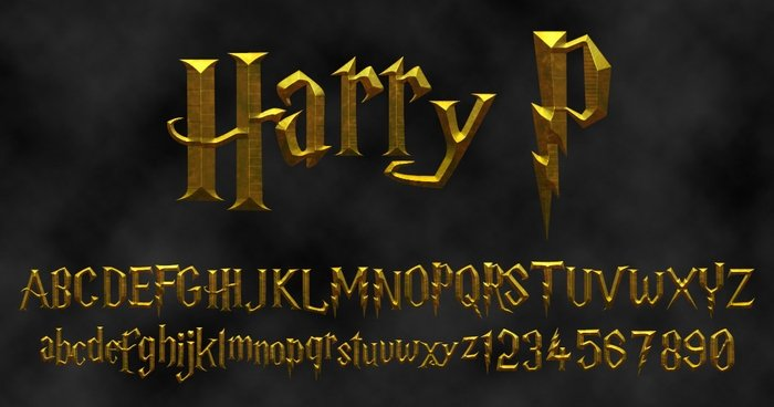 Tipografías Harry Potter