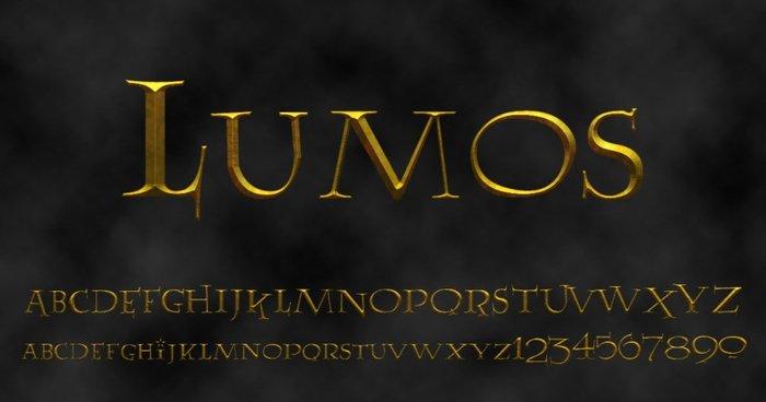 Lumos Tipografía Harry Potter