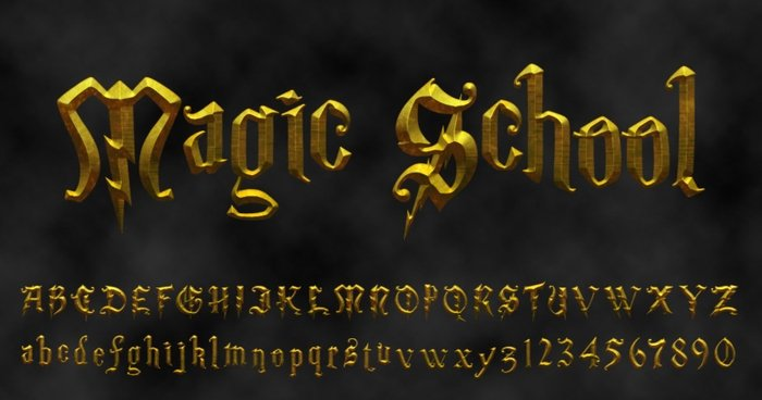Magic School Tipografías Harry Potter