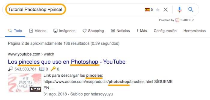 Incluir palabras claves con los comandos de búsqueda SEO de Google