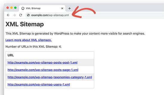 Apariencia del nuevo Sitemap en Wodpress 5.5