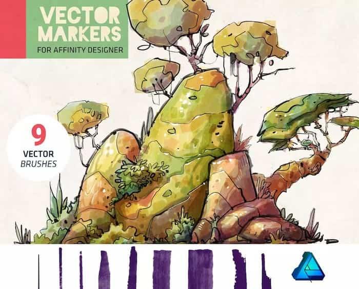 Marcadores Vectoriales Affinity