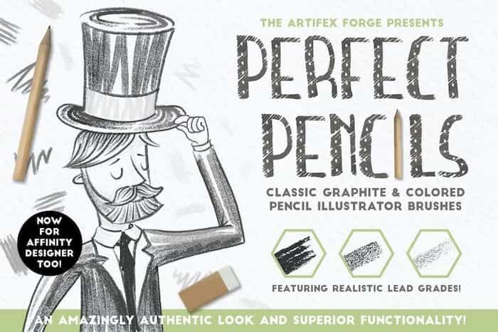 Pinceles de lápices para Affinity Designer e Illustrator