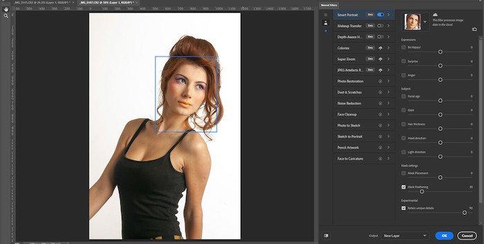 Traducción de comandos de Adobe Photoshop - Filtros Neuronales -