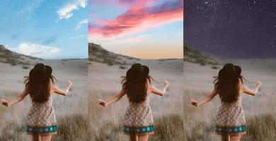 añadir nuevos cielos en Photoshop